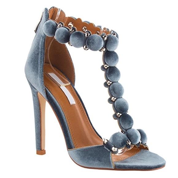 Shoes   Velvet Pom Pom T Strap Designer